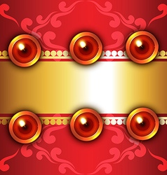 Attractive background of diwali vector image