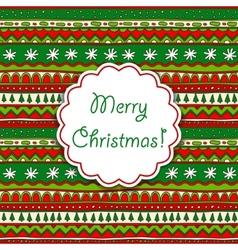 Christmas ornamental card vector