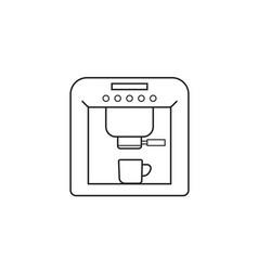 Coffee machine line icon outline vector