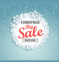 concept of christmas big sale vector image vector image