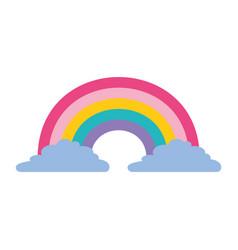 Cute rainbow cloud magic fantasy image vector
