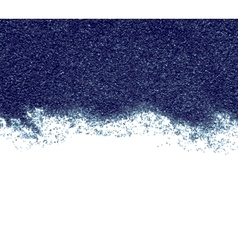 Dark blue abstract sand on white background vector