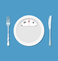 Diet meal concept vector