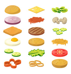 different burgers vector image vector image