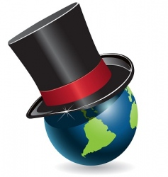 globe in cylinder vector image vector image
