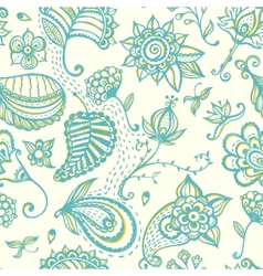 Hand-drawn floral seamless pattern vector image vector image
