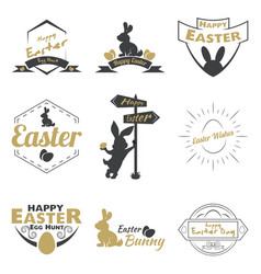 happy easter logo vector image vector image