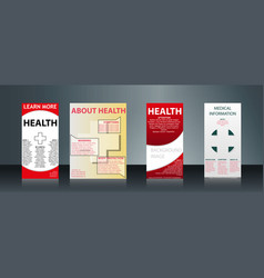 mega collection of 4 abstract medical business vector image vector image