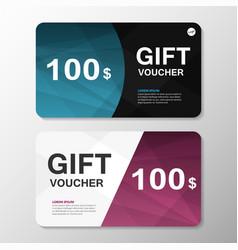Premium elegance blue purple gift voucher template vector