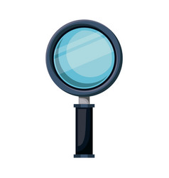 realistic colorful silhouette of magnifying glass vector image