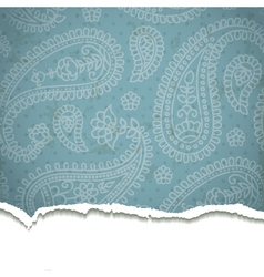 Ripped paisley paper vector image vector image