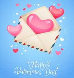 Romantic air mail letter opened envelope vector image vector image