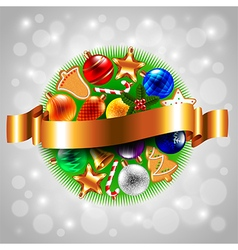 Sphere from Christmas objects vector image