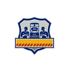 Train Engineers Arms Crossed Diesel Train Crest vector image vector image