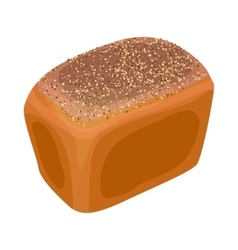 Wheat bread icon realistic style vector image vector image
