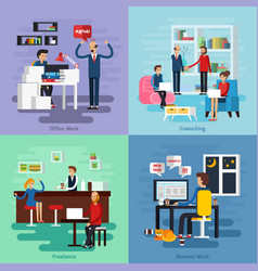 working character composition set vector image vector image