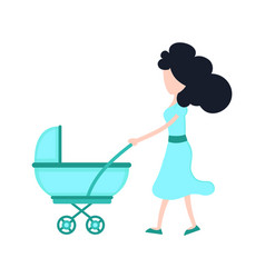 young beauty mother mom with child vector image vector image