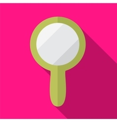 Hand mirror flat icon vector
