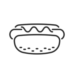 Hot dog line icon vector