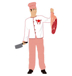 Cooking meat vector