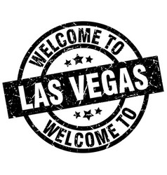 Welcome to las vegas black stamp vector