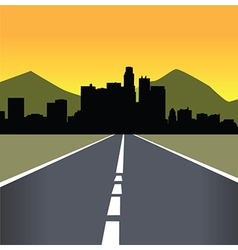 Late afternoon city landscape vector