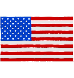 Painted usa flag vector