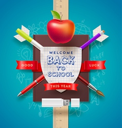 Back to school coat of arms vector image