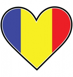 Romania heart flag vector