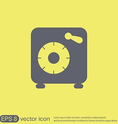 Bank vault safe icon vector