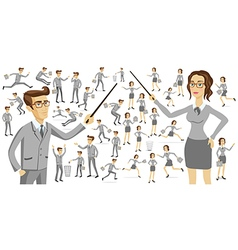 Business people silhouettes business people vector