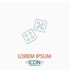 Game dice computer symbol vector