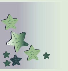 a beautiful green starfish washes ashore vector image vector image
