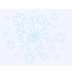abstract christmas snow flakes vector image vector image