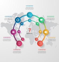 Abstract circle infographic 07 options vector