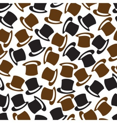 black and brown hat pattern eps10 vector image