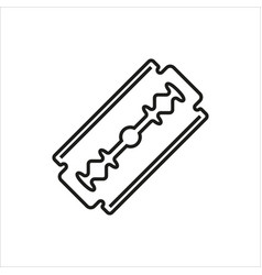 blade razor icon on white vector image vector image