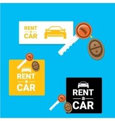 Car rent concept flat banner vector