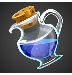 Cartoon potion bottle vector