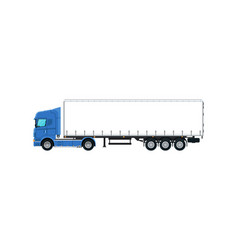 commercial cargo truck isolated icon vector image vector image