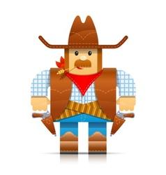cowboy origami toy vector image vector image