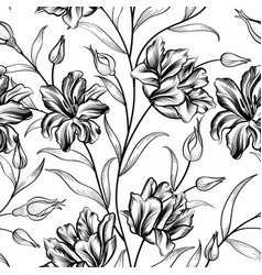 floral background flower pattern flourish vector image vector image