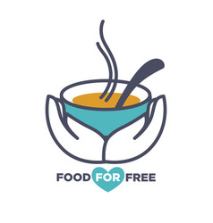 Food for free chrity event announcement vector