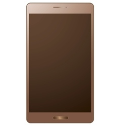golden smart phone vector image vector image