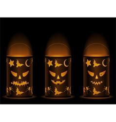 halloween lanterns vector image vector image