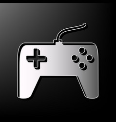 Joystick simple sign gray 3d printed icon vector