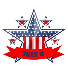 July 4 background vector image