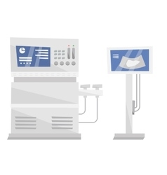 Medical ultrasound equipment vector image