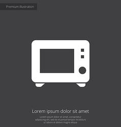 Microwave premium icon vector