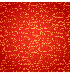National chinese seamless pattern with cloud vector